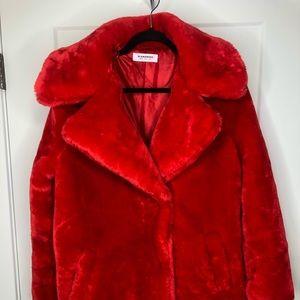 Fire truck red teddy jacket